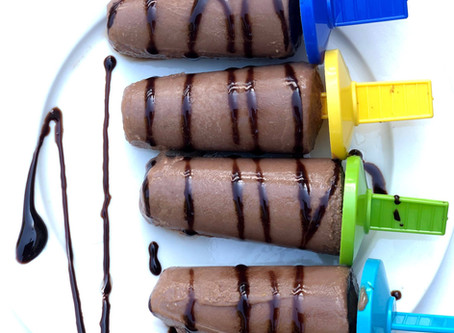 Chocolate Chickpea Peanut Butter Ice Pops