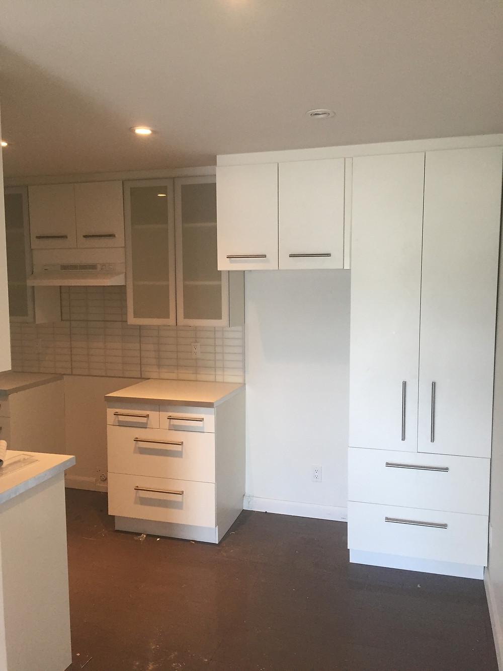 Installation armoire cuisine à Québec 1