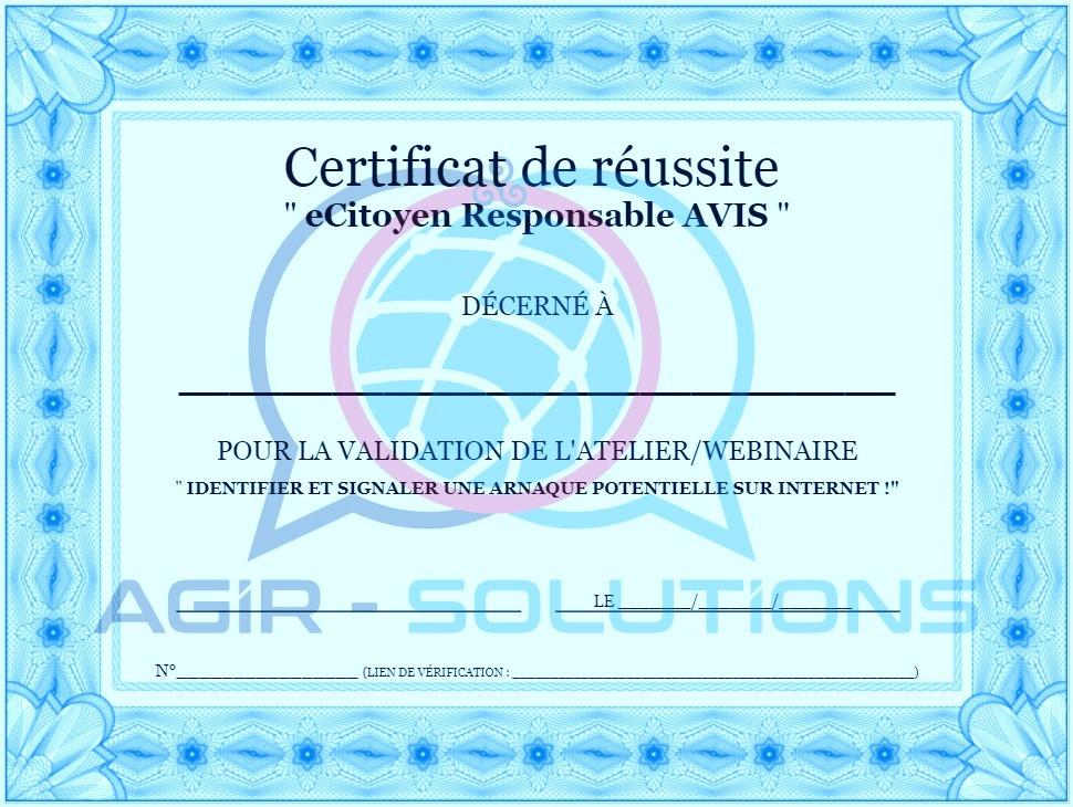 Certificat de Réussite AVIS