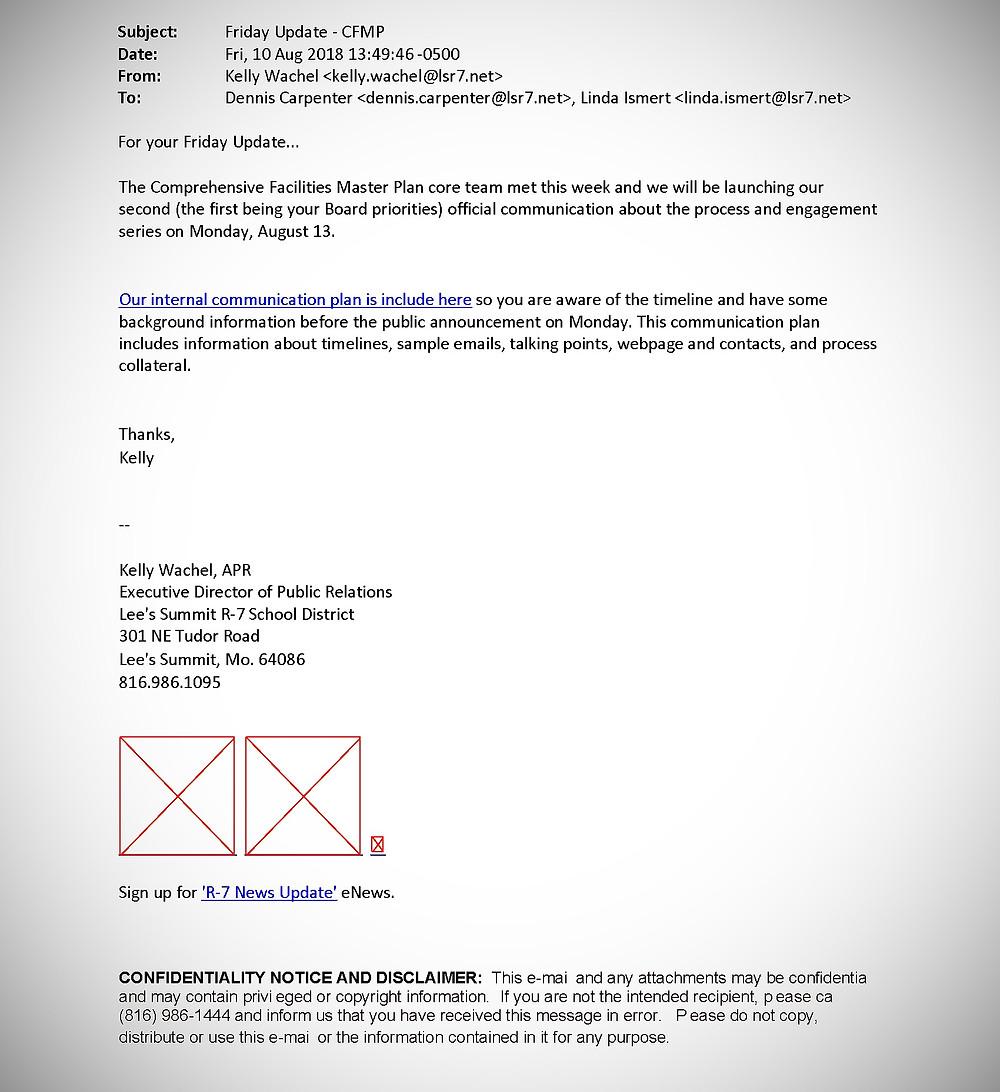 LSR7 CFMP communication plan cover