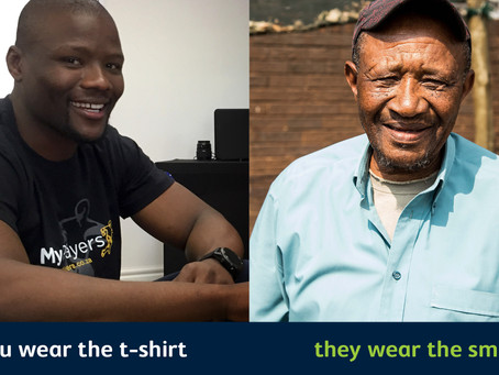 South Africa's Rugby players help feed the underprivileged by wearing bonhappi-T shirts