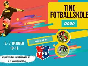Tine Fotballskule 5. - 7. oktober