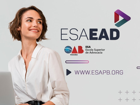 ESA lança plataforma EAD para oferecer cursos gratuitos à advocacia paraibana durante quarentena