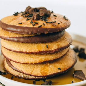 Chocolate Laced Pancakes