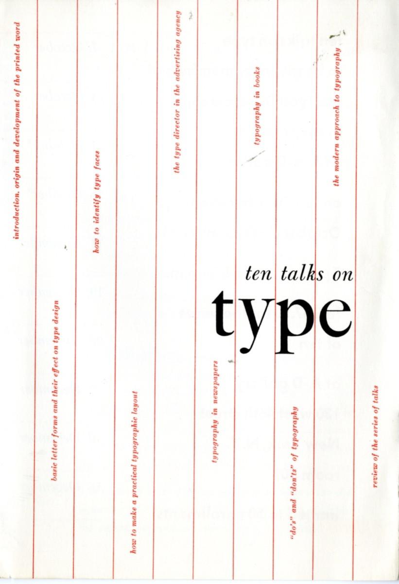 ten talks on type