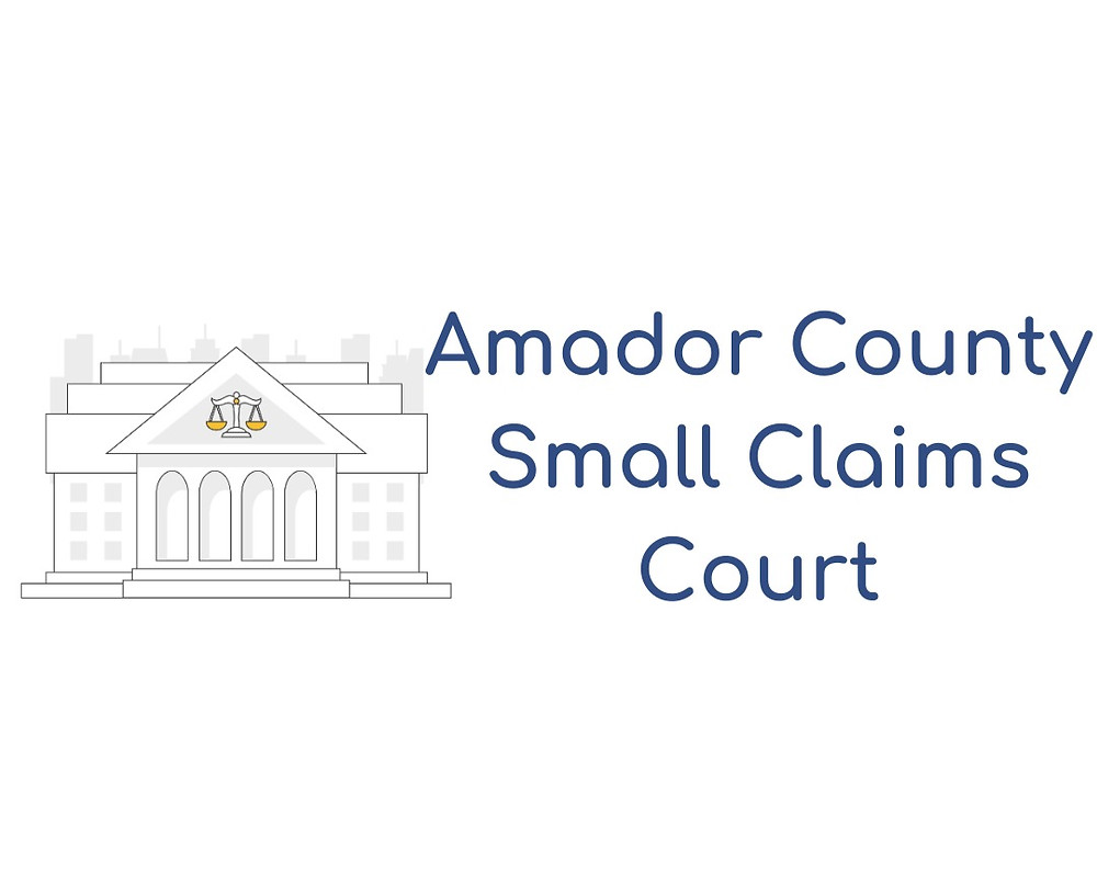 How to file a small claims lawsuit in Amador County Small Claims Court