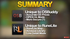RuneLite vs OSBuddy (Complete Feature Summary)