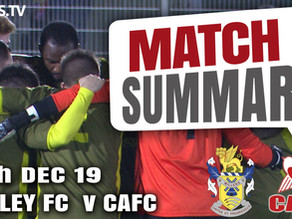 Match summary - Aveley replay
