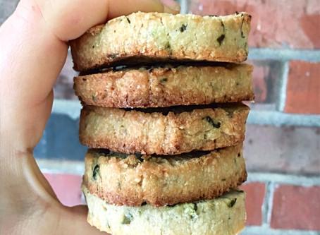 Lemon Basil Shortbread Cookies (Gf, V)