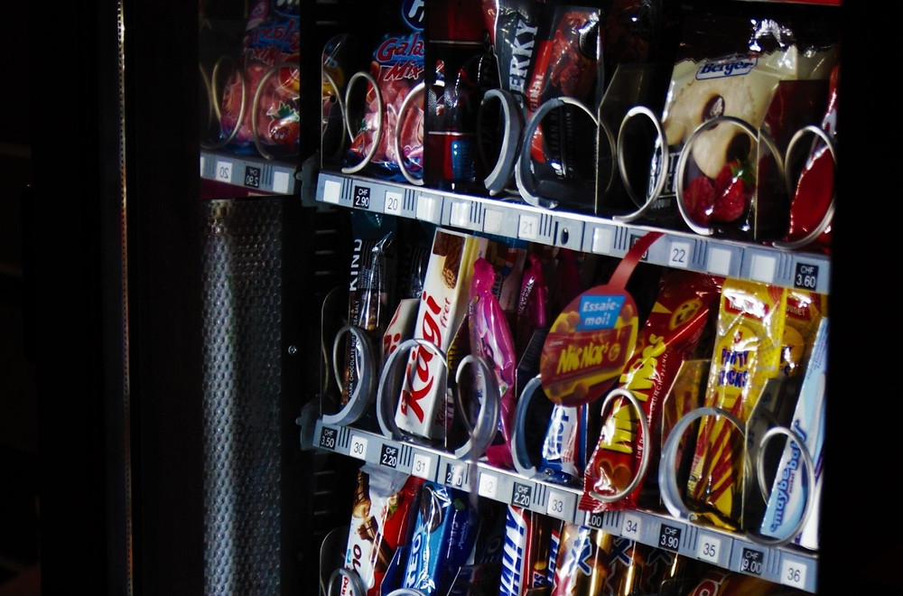 Image of vending machine showing candy