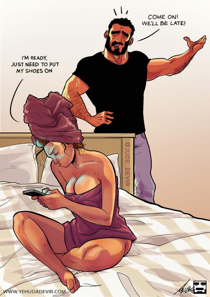 Комиксы  об отношениях Yehuda Devir 5. Студия комиксов на заказ.