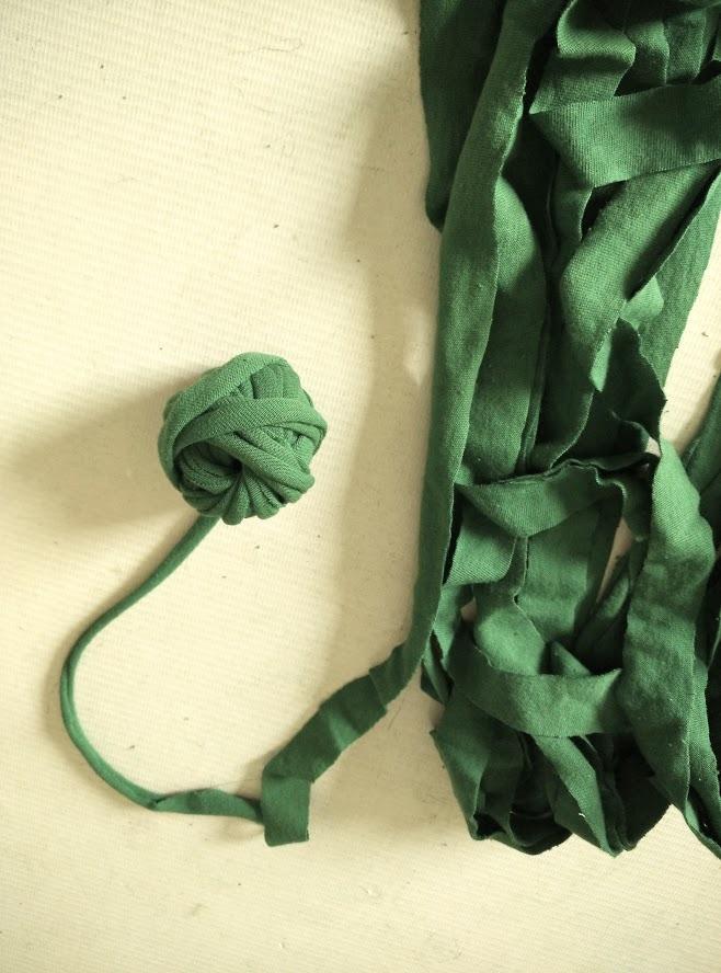 Ball of t shirt yarn