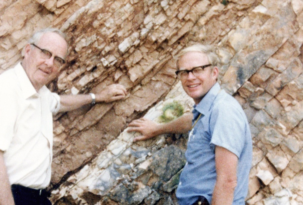 Luis and Walter Alvarez at the K-T Boundary in Gubbio, Italy, 1981