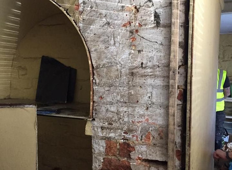 200 year old listed building's chimney carefully uncovered