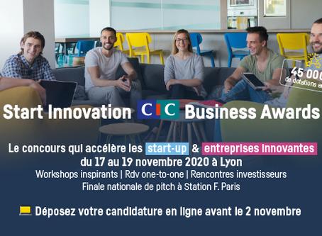 START News : Participez aux CIC START INNOVATION BUSINESS AWARDS!