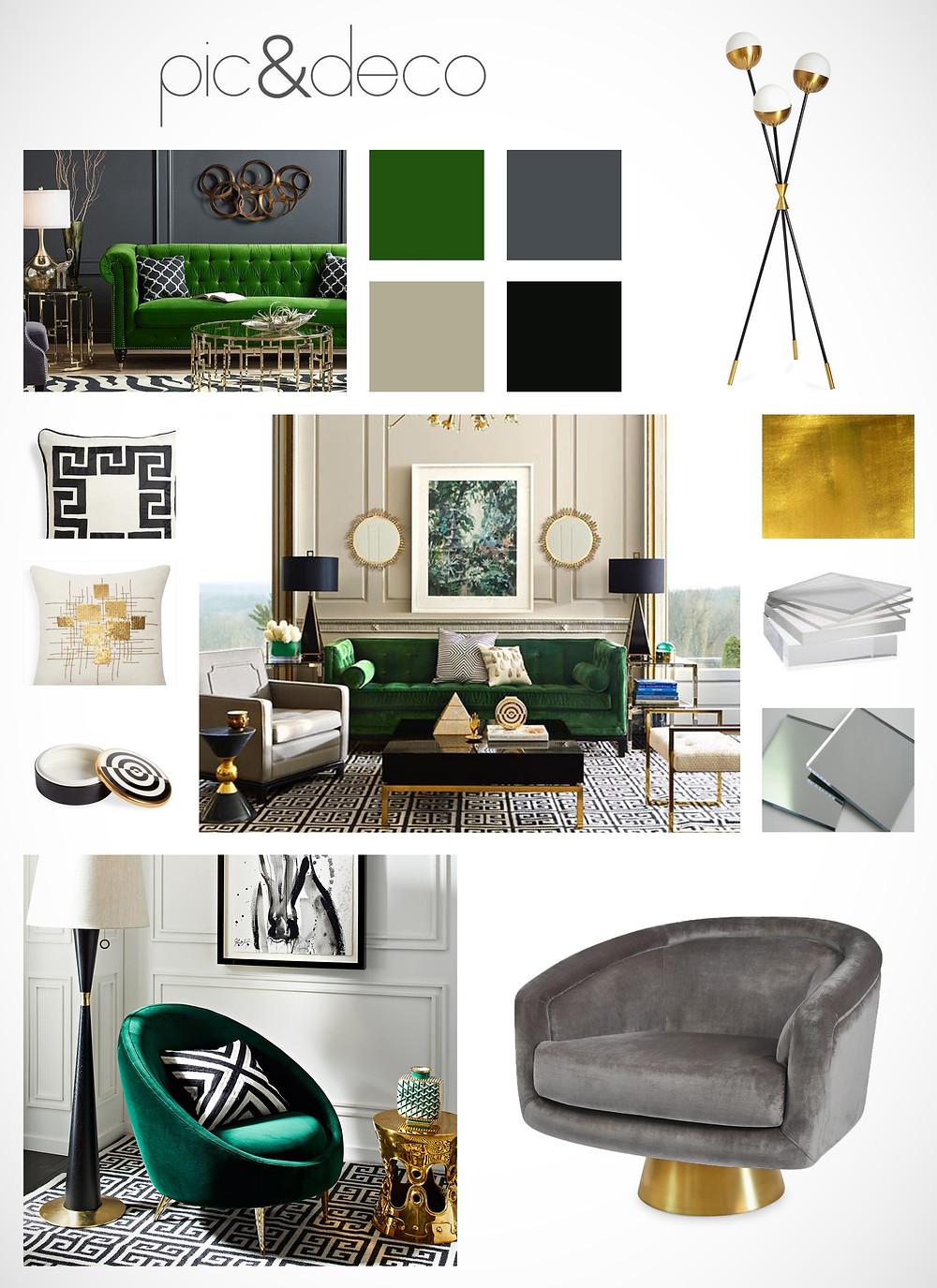 ejemplo concepto de diseño de decoracion