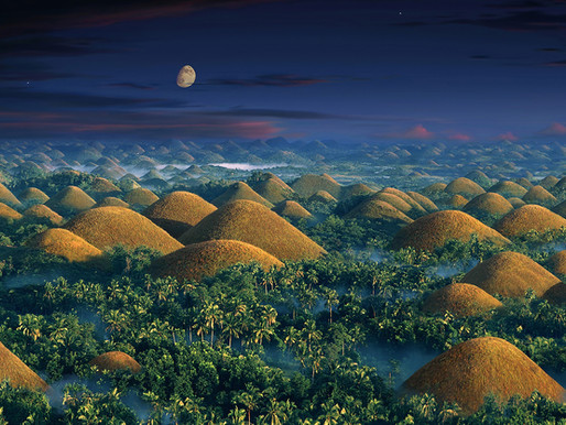 Les Chocolate Hills de l'Ile de Bohol aux Philippines