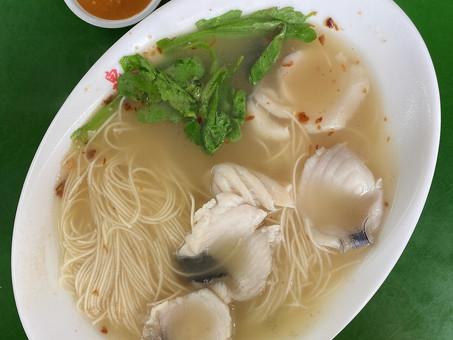 Singapore Hawker Food : Fish Soup w/ Mee Sua