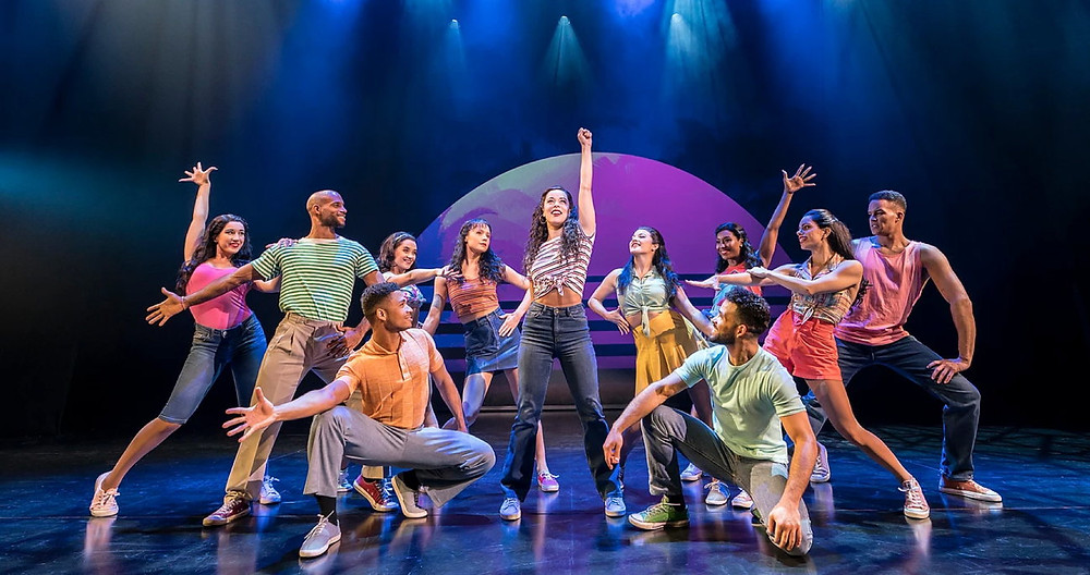 Philippa Stefani as Gloria Estefan and the company of On Your Feet! All pics: Johan Persson
