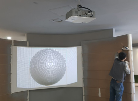 GeoBox G-106을 소형 돔스크린에 적용