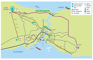 New Istanbul Airport Transportation Network Map