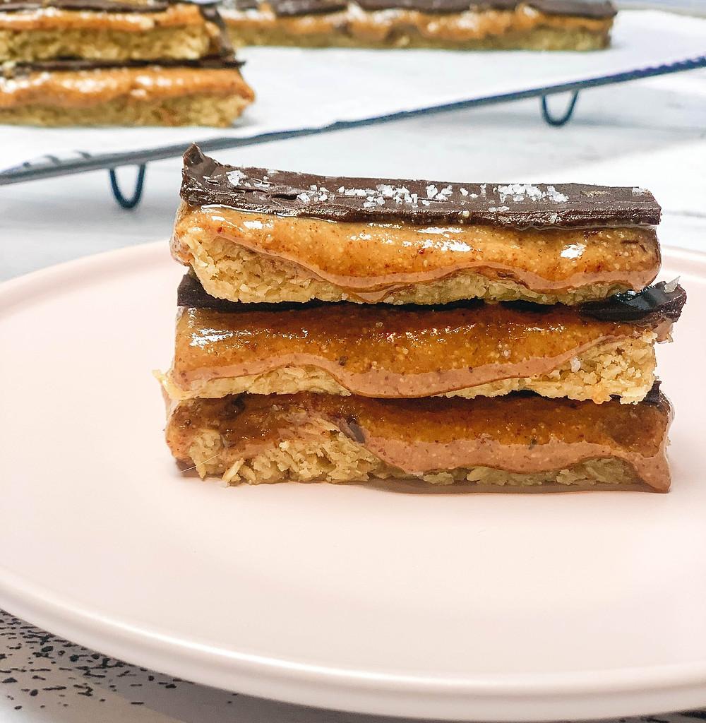 Healthier Gooey Caramel Slice Recipe