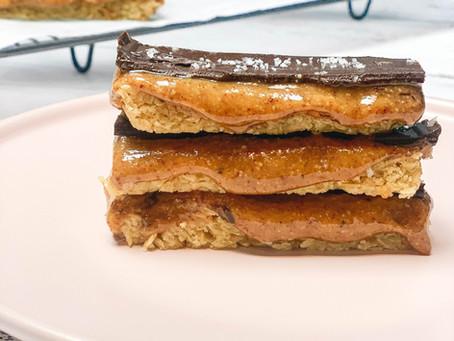 Healthier Gooey Caramel slice