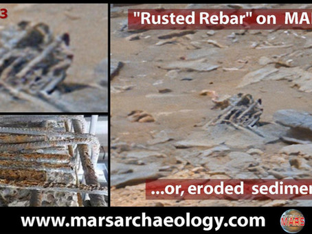 Rusted Concrete Rebar Found on Mars?