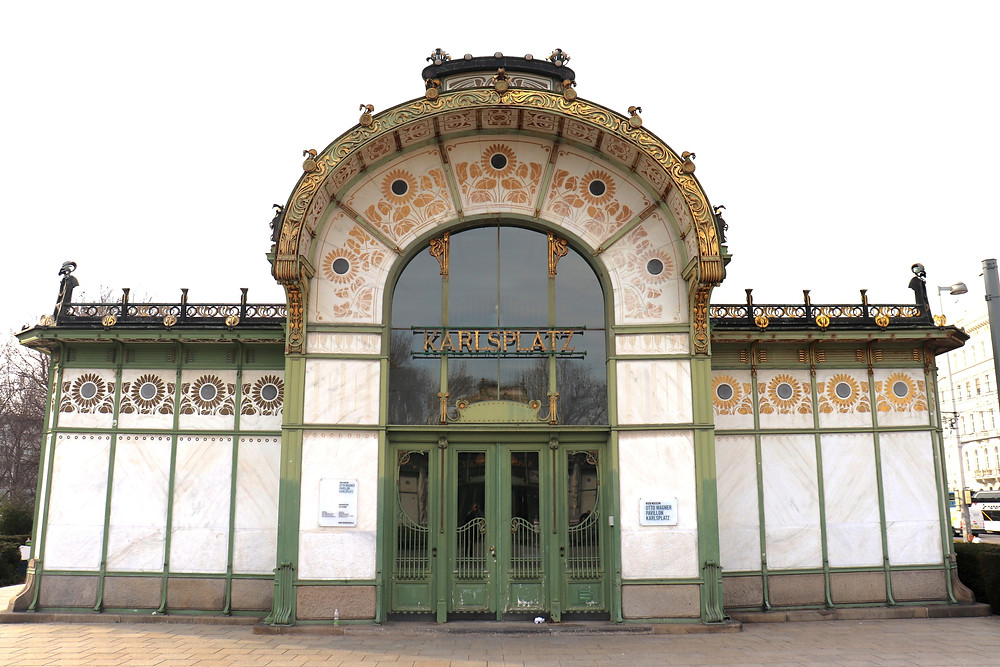 Otto Wagner Pavilion in Karlsplatz