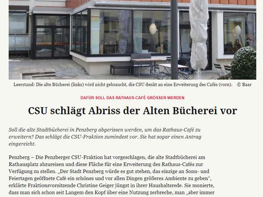 Penzberger Merkur: CSU schlägt Abriss der alten Bücherei vor