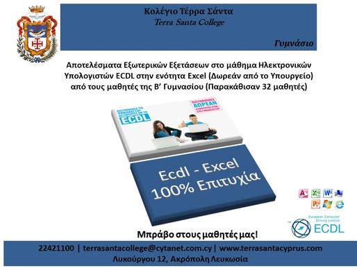 Αποτελέσματα Εξωτερικών Εξετάσεων ECDL - Ενότητα Υπολογιστικών Φύλλων Ms Excel
