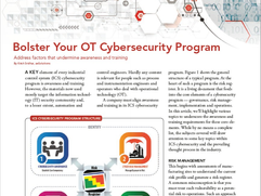 Bolster Your OT Cybersecurity Program – Chemical Processing