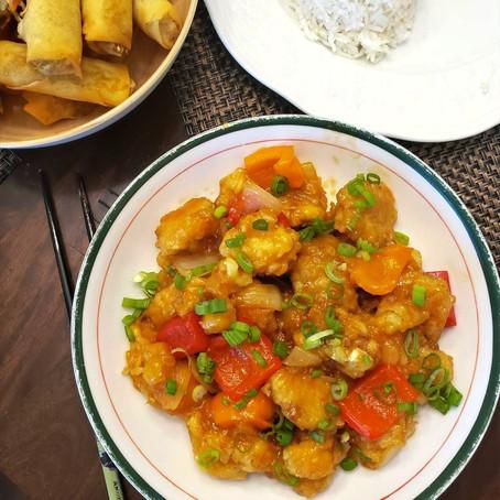 Delicious Vegan Sweet & Sour Cauliflower
