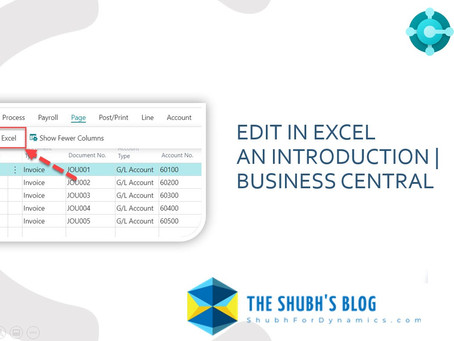 Edit in Excel - An Introduction | Business Central