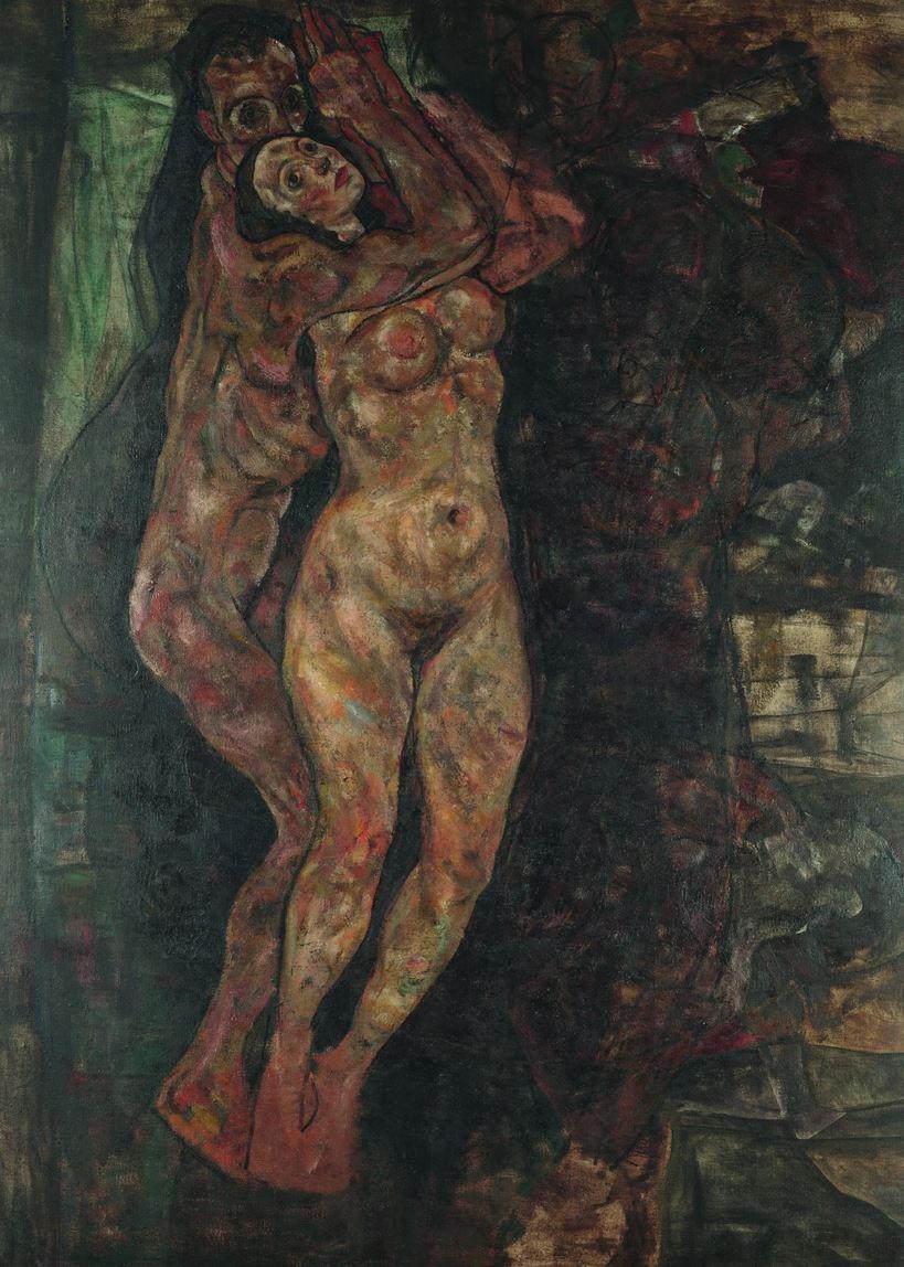 Schiele, Lovers (1918)