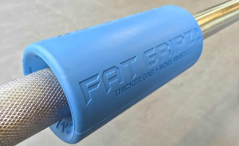 fat gripz on a barbell