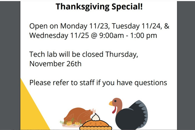 THANKSGIVING SPECIAL!