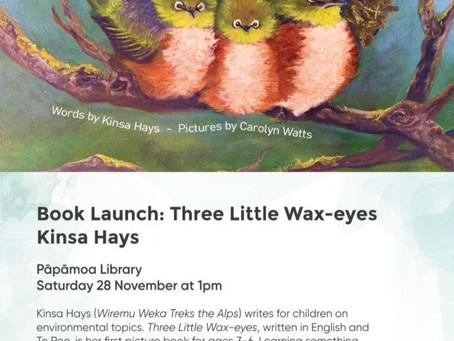 Book Launch: Three Little Wax-eyes