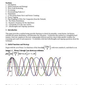Using Waves to Determine the Primes