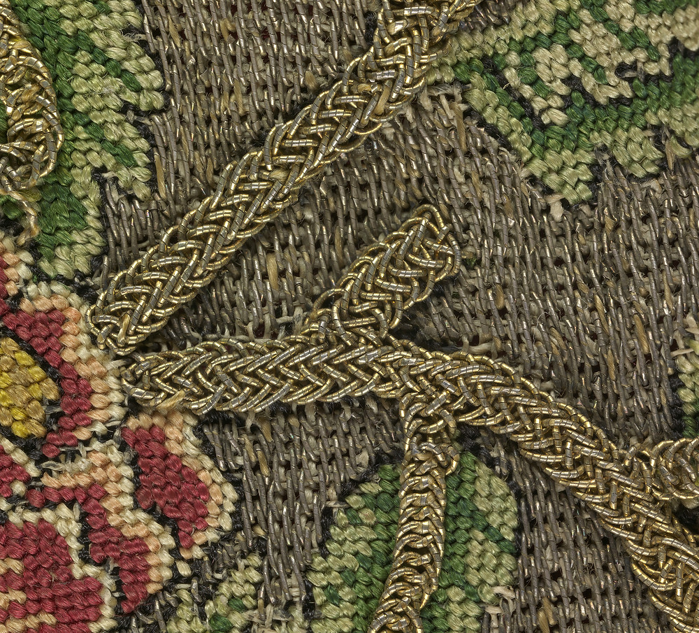 Close-up detail of the sweet bag in the National Gallery of Victoria