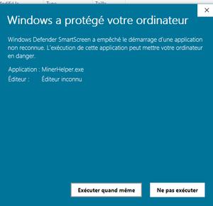 alerte windows