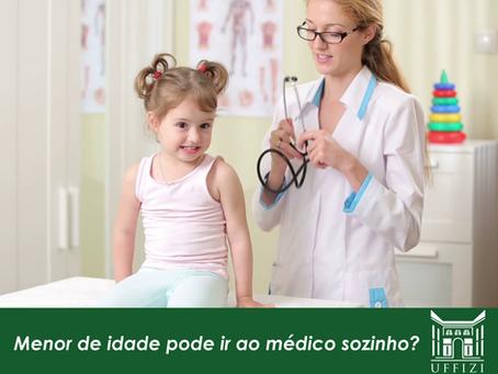 Menor de idade por ir ao médico sozinho?