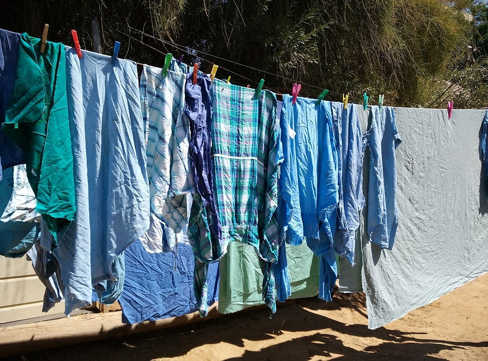 Upcycled clothing which will become piles of fabric