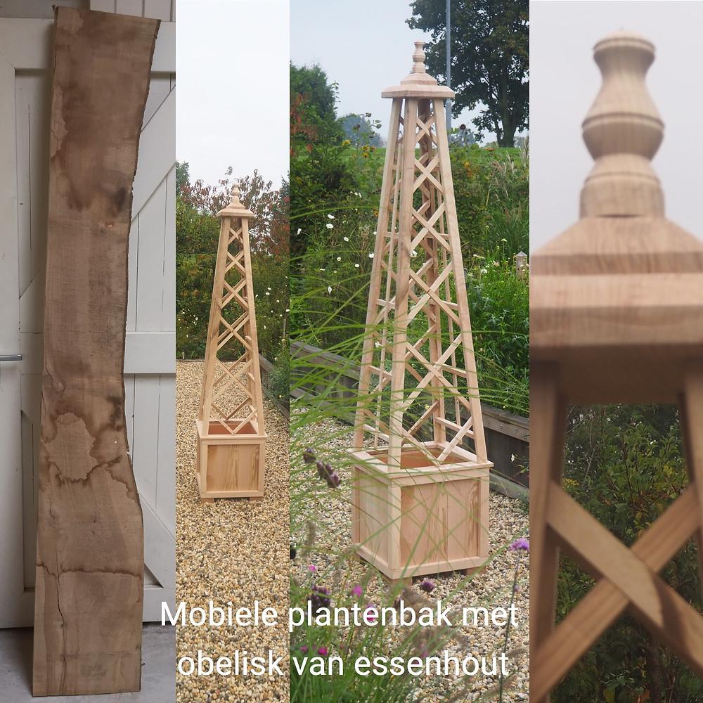 Obelisk made of wood
