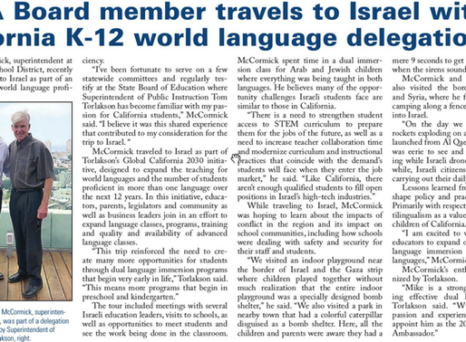 Mission Trip to Israel (ACSA Article)