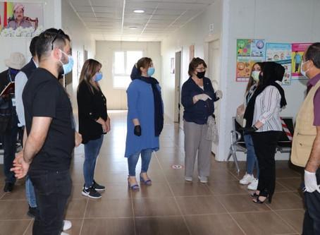 we were honored to be visited by the Humanitarian Coordinator (Irina Vojackova-Sollorano)