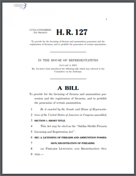 A BILL To provide for the licensing of firearm and ammunition possession and the registration of firearms, and to prohibit the possession of certain ammunition.