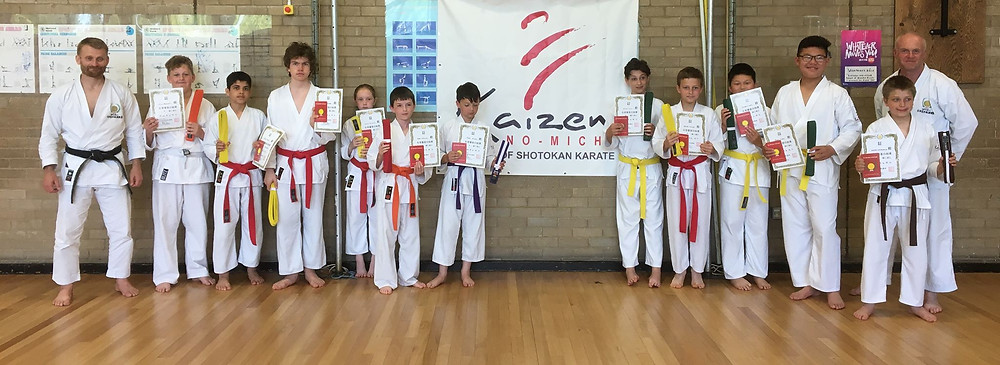 KNM Grimsby Karate students make the grade.