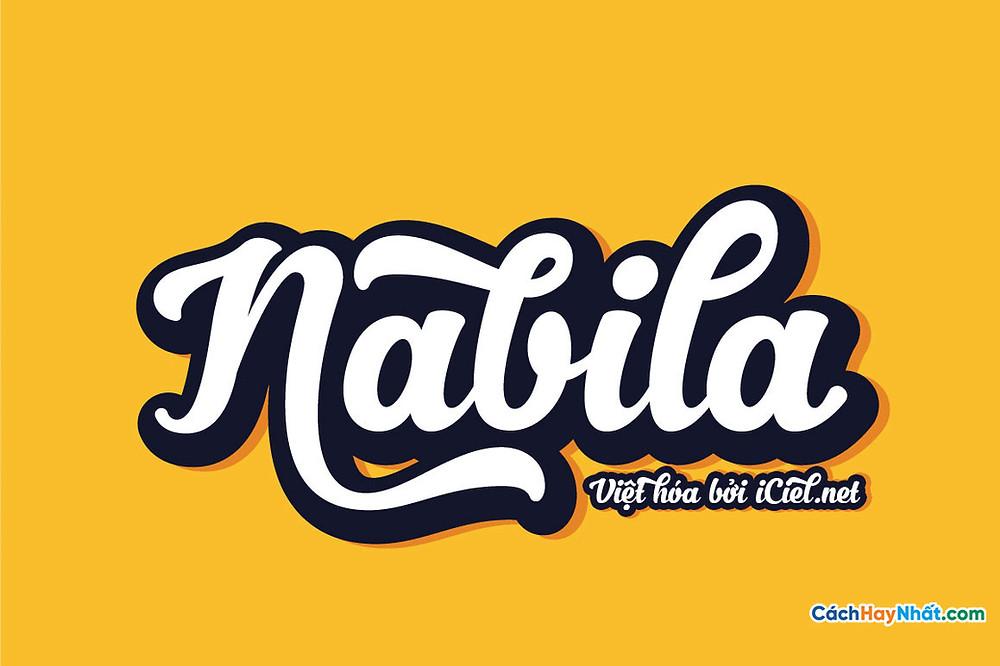 Free Font iCiel Nabila 2014 Việt Hóa Tuyệt Đẹp Cho Thiết Kế