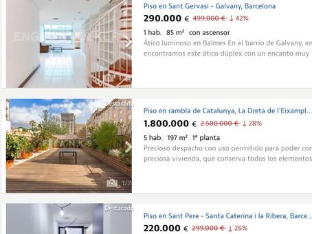 所有者による住宅の価格の割引が始まっている